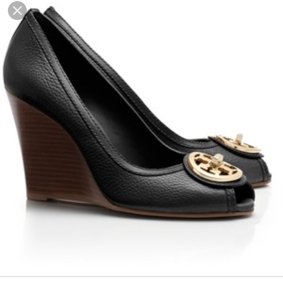 28cc1f6b6ed7 Tory Burch Selma peep toe wedges